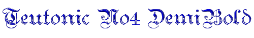 Teutonic No4 DemiBold
