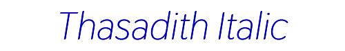 Thasadith Italic
