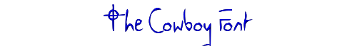 The Cowboy Font