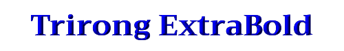 Trirong ExtraBold