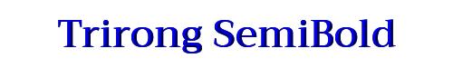 Trirong SemiBold