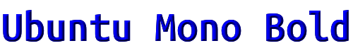 Ubuntu Mono Bold