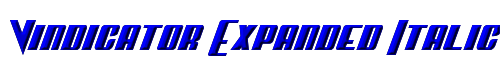 Vindicator Expanded Italic