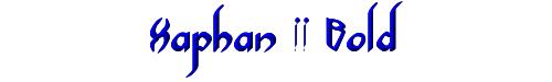 Xaphan II Bold