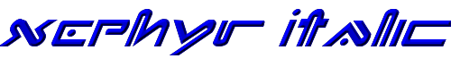 Xephyr Italic