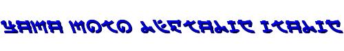 Yama Moto Leftalic Italic