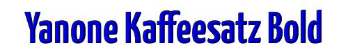 Yanone Kaffeesatz Bold