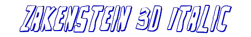 Zakenstein 3D Italic