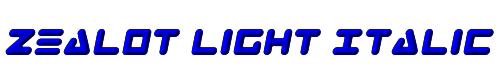 Zealot Light Italic