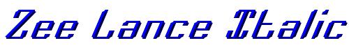 Zee Lance Italic