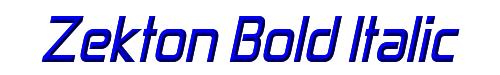Zekton Bold Italic