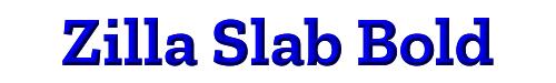 Zilla Slab Bold