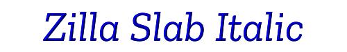 Zilla Slab Italic