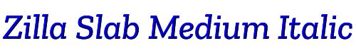 Zilla Slab Medium Italic