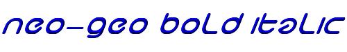 neo-geo bold italic