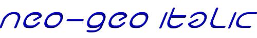 neo-geo italic