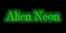 alien neon logo