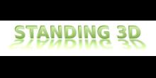 standing 3d logo
